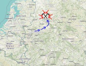 Karten von der Varusschlacht - Die Römer folgten der Lippe bevor es zur Varusschlacht nördlich von Osnabrück kam.