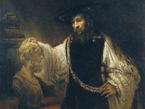 Ein Rembrandt mit Büste von Aristoteles