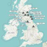 Karte der Schlachten im 1. Schottischen Unabhängigkeitskrieg