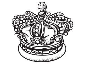 Zeichnung der englischen Krone der Monarchie