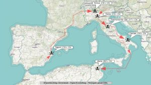 Route und Schlachten von Hannibal Barkas im Zweiten Punischen Krieg