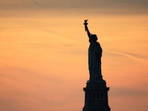 Bild von der Freiheitsstatue für George Washington nach dem Gewinn des Amerikanischen Unabhängigkeitskriegs
