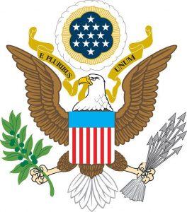 Zeichnung des Siegels von George Washington des ersten Präsidenten der USA