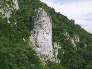 """Foto von """"Der Kopf von Decebalus"""" des Gegners von Kaiser Trajan."""