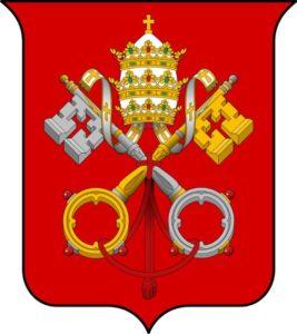 Das Symbol und Wappen der Päpste
