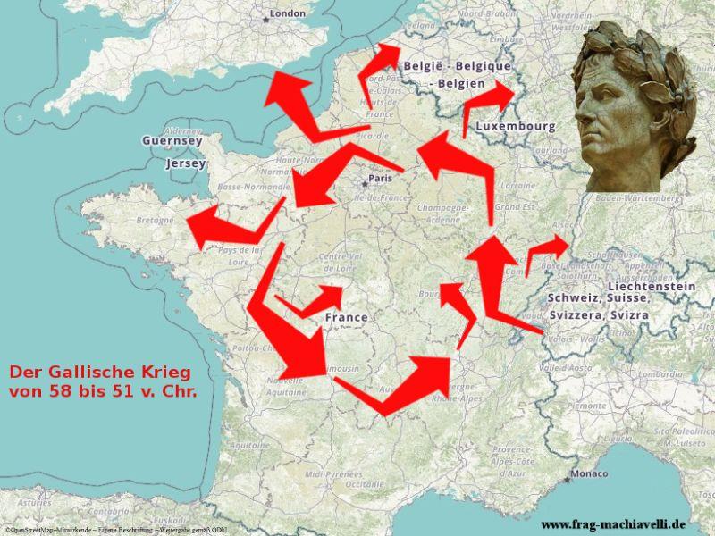 Karte des Gallischen Krieges