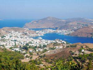 Auf der griechischen Insel Patmos hat der Apostel Johannes die Vision aus seiner Offenbarung
