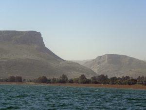 Ansicht vom See Genezareth in Richtung des biblischen Ortes Kinneret