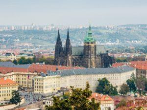 Der Hradschin - die Prager Burg, Ort des Fenstersturzes.