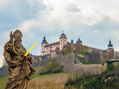 Die Festung Marienberg oberhalb von Würzburg wurde vom Götz von Berlichingen belagert.