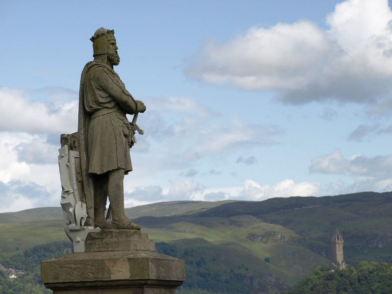 Statue von Robert the Bruce in Sterling Castle