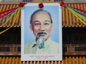Idealisierte Darstellung von Ho Chi Minh, im Volksmund auch Onkel Ho genannt.