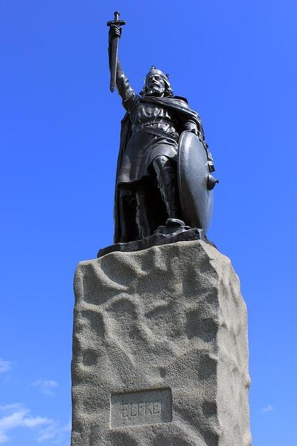 Alfred der Große Statue Winchester