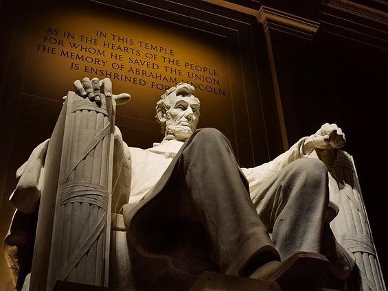 Lincoln Memorial zum Andenken an 16. US-Präsidenten Abraham Lincoln