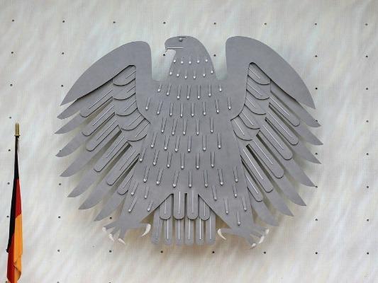 Bundesadler im alten Bundestag