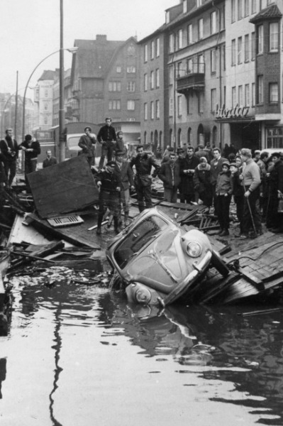 Schäden der Sturmflut von 1962 in Hamburg