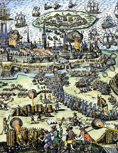 Wallensteins Belagerung von Stralsund