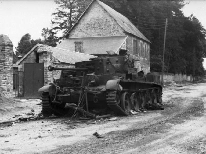 Zerstörter Cromwell-Panzer