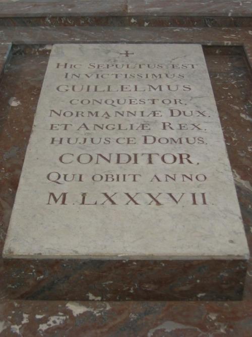 Grabplatte Wilhelm der Eroberer