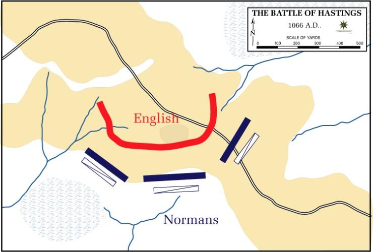 Karte Schlacht von Hastings