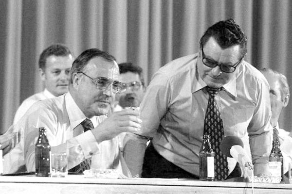 Helmut Kohl und Franz Josef Strauß