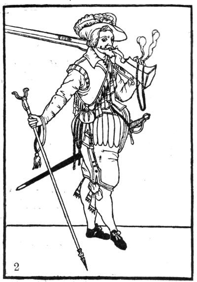 Zeichnung eines Musketiers