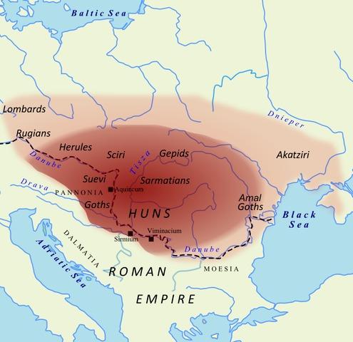 Attila Hunnenreich Donau Karte