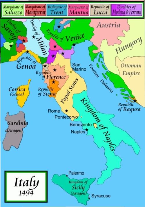 Kirchenstaat Karte 1494