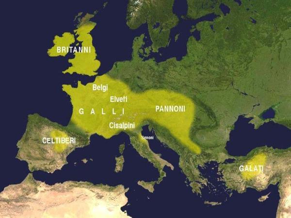 Keltische Siedlungsräume Karte