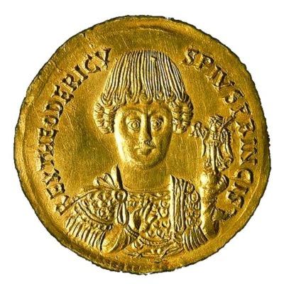 Theoderich der Große Münze mit Abbild