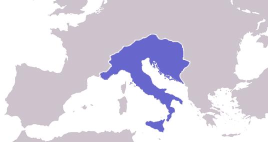 Ostgotisches Reich um 508 Karte