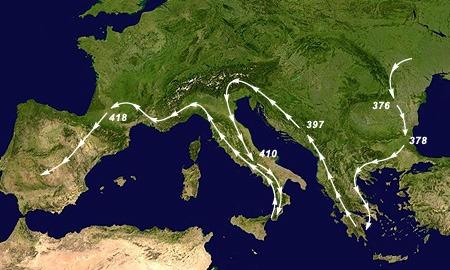 Völkerwanderung Westgoten Karte