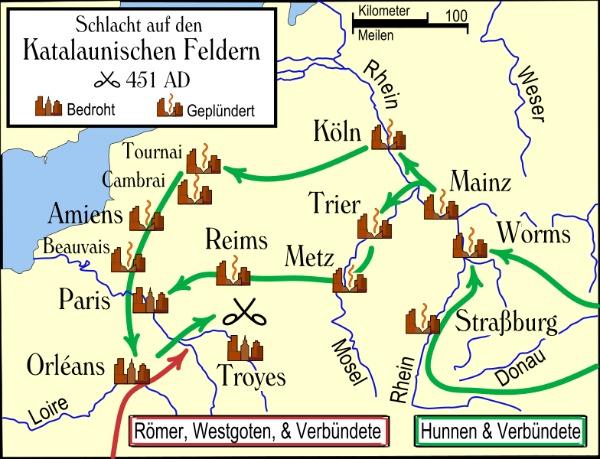 Attila Gallien Karte