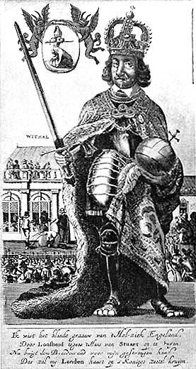Oliver Cromwell Karikatur