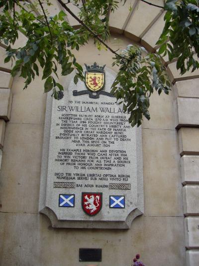 William Wallace Gedenktafel Hinrichtung