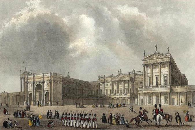 Buckingham Palace um 1837