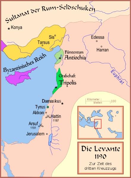 Dritter Kreuzzug Karte