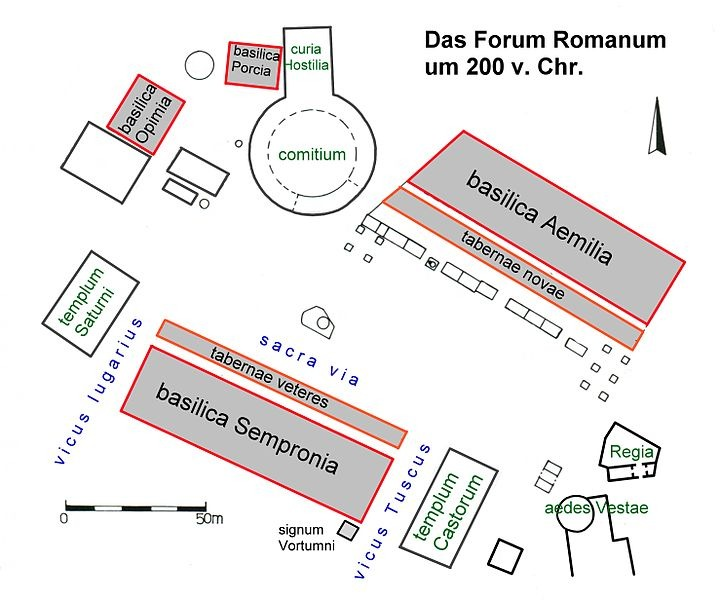 Forum Romanum Karte