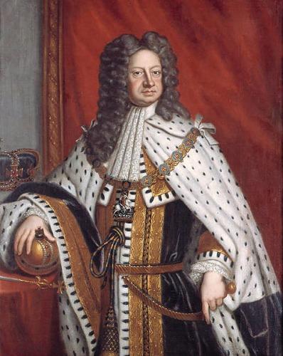 König Georg I. in Krönungsrobe