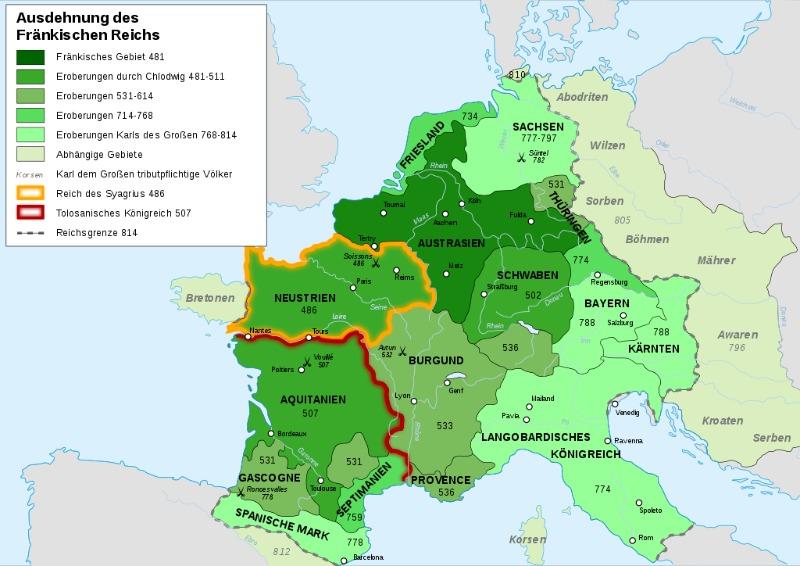 Karte Expansion Frankreich