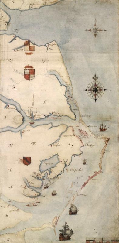 Roanoke Island Karte