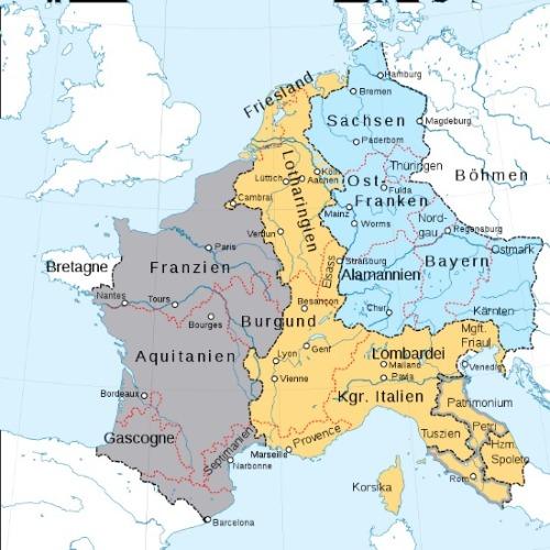 Vertrag von Verdun Karte