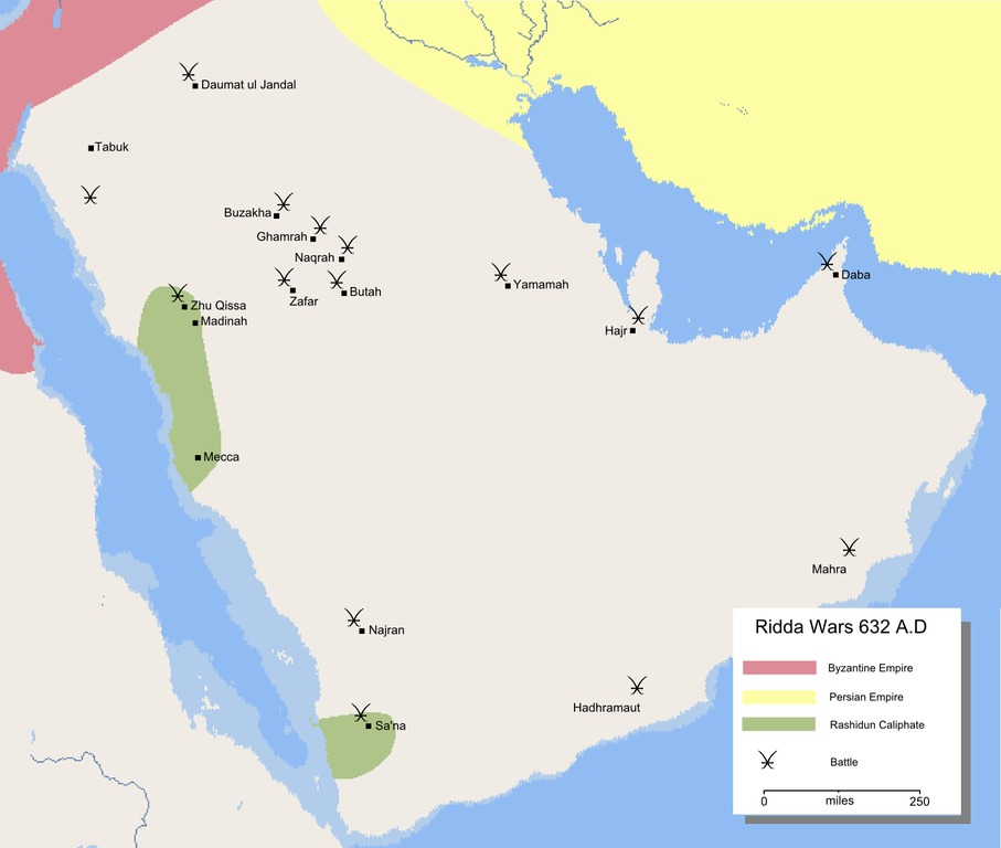 Ridda-Kriege Karte