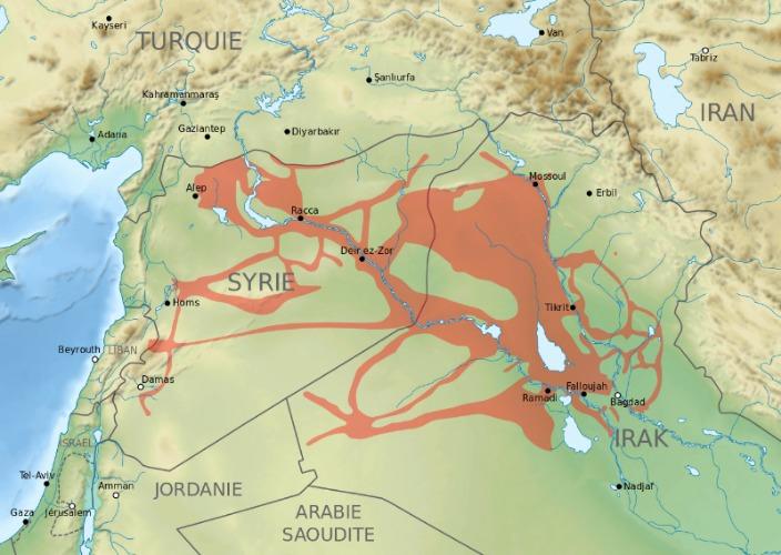 Islamischer Staat Karte 2015