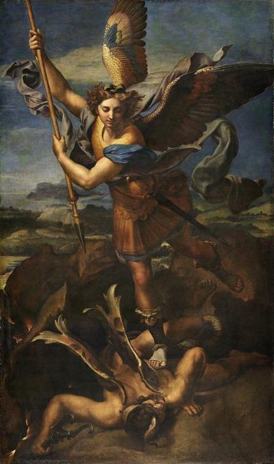 Erzengel Michael gemalt von Raffael