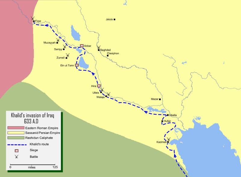 Abu Bakr Irak Karte