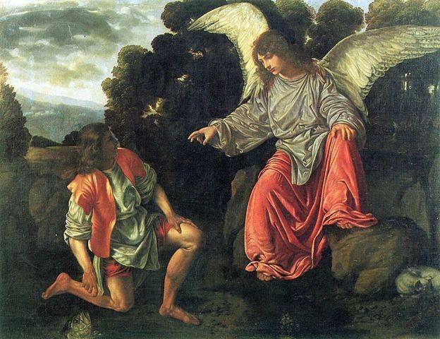 Erzengel Raphael mit Tobias und dem Fisch