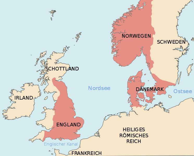 Karte nordisches Großreich