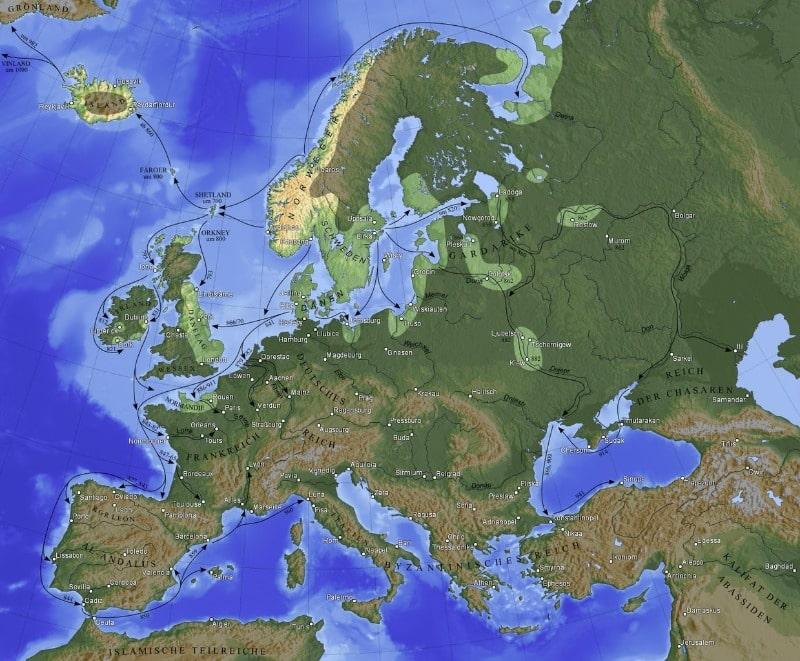 Wikinger Expansion Karte