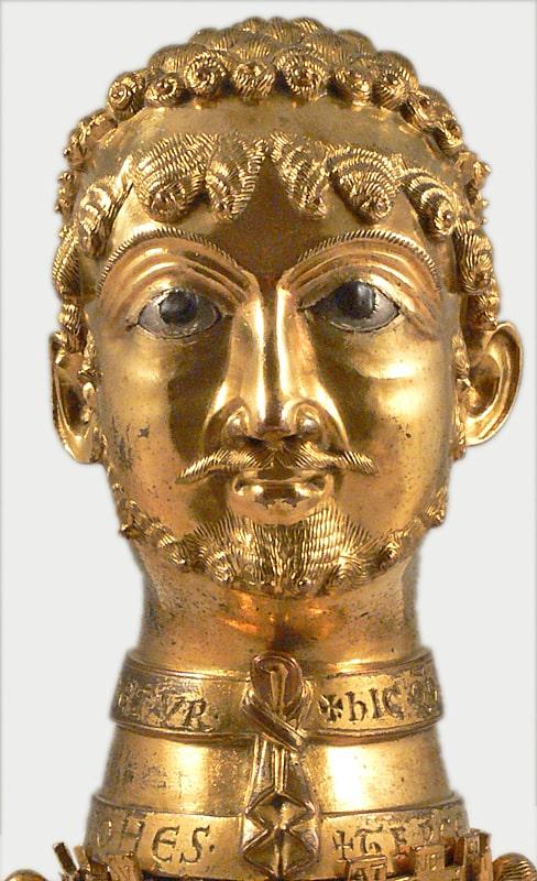 Vergoldete Büste von Kaiser Barbarossa
